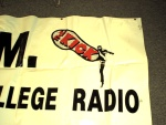 """Long, long ago, WDGR, the MDCC Kendall radio station, was on 1610 AM, and known as """"The Kick"""", WKCR. This is part of an artifact I found from this era... same stupid """"Miami's Real College Radio"""" thing as well. What, like WVUM and WRGP are fake?"""